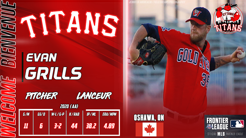 Titans Bolster Pitching Staff With Signing of Canadian Evan Grills
